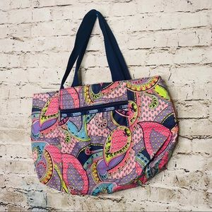LeSportSac Paisley Colorful Tote